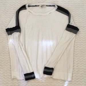 Stella and Jamie distressed white long sleeve